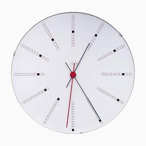 Reloj de pared grande de Arne Jacobsen para Gefa, años 70