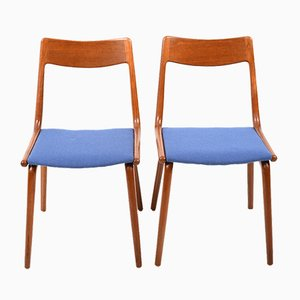 Boomerang Teak Chairs by Alfred Christensen for Slagelse Møbelværk, 1960s, Set of 2