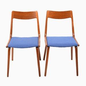 Boomerang Teak Chairs by Alfred Christensen for Slagelse Møbelværk, 1960s, Set of 2