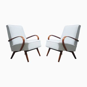 Model 53 Bentwood Armchairs by Jaroslav Smidek for Thonet, 1950s, Set of 2