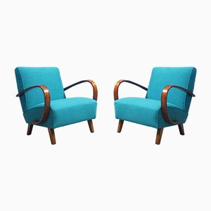 Bentwood Armchairs by Jindrich Halabala for Thonet, 1930s, Set of 2