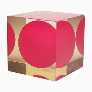 Cube Acrylique par Enzo Mari pour Danese, 1960s
