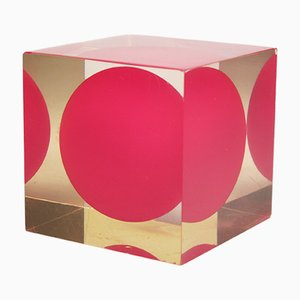 Cubo Acrylic Cube by Enzo Mari for Danese, 1960s