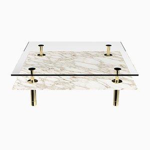 Table Basse à Pieds Carrés par P. Rizzatto pour Ghidini 1961