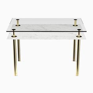 Table Basse à Pieds Rectangulaires par P. Rizzatto pour Ghidini 1961