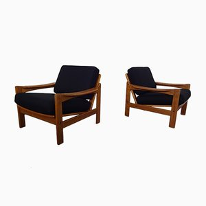 Danish Teak Easy Chairs, 1960s, Set of 2