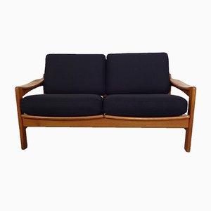 Dänisches 2-Sitzer Sofa mit Gestell aus Teak, 1960er
