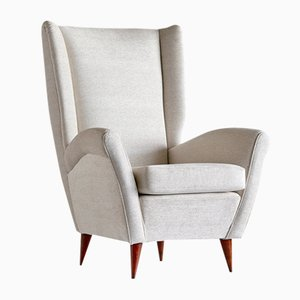 Sessel mit hoher Rückenlehne von Gio Ponti, 1940er
