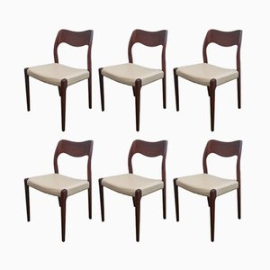 Model 71 Chairs by Niels O Møller, 1951, Set of 6