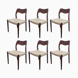 Modell 71 Stühle von Niels O Møller, 1951, 6er Set