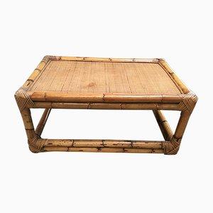 Mesa de centro italiana vintage de bambú