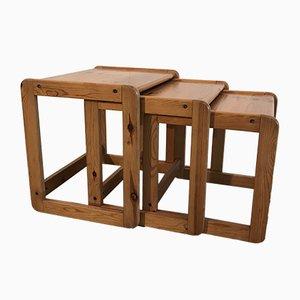 Tavolini ad incastro vintage, set di 3