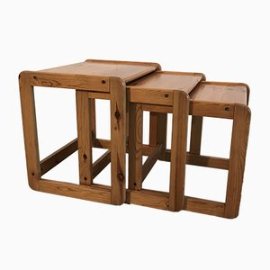 Vintage Nesting Tables, Set of 3