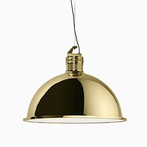 Large Factory Suspension Light by E. Giovannoni for Ghidini 1961