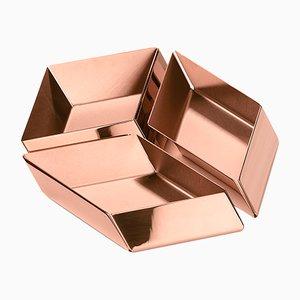 Petit Cube Axonometry par E. Giovannoni pour Ghidini 1961, Set de 3