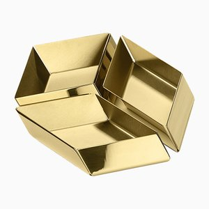 Petits Contenants Cube Axonometry par E. Giovannoni pour Ghidini 1961, Set de 3