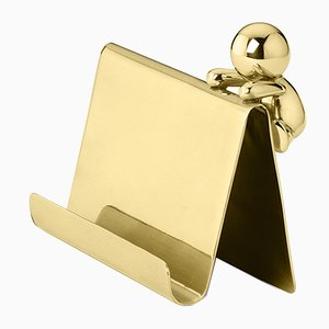 Omini Card Holder in Brass by S. Giovannoni for Ghidini 1961