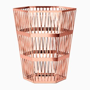Tip Top Medium Copper Paper Basket by R. Hutten for Ghidini 1961
