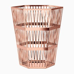 Tip Top Small Copper Paper Basket by R. Hutten for Ghidini 1961