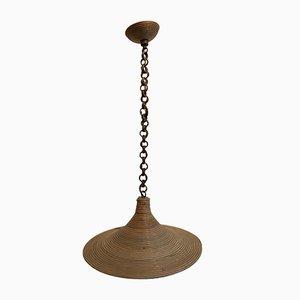 Mid-Century Deckenlampe aus Bambus