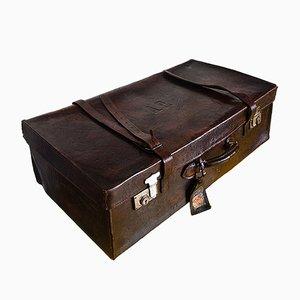 Vintage Koffer aus braunem Leder