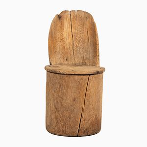 Silla auxiliar de madera, década de 1780