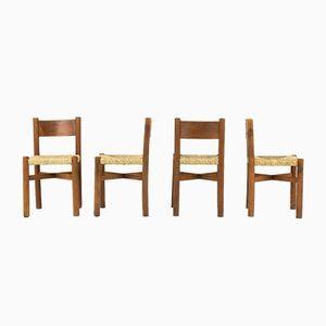 Meribel Stühle von Charlotte Perriand für Steph Simon, 1950er, 4er Set