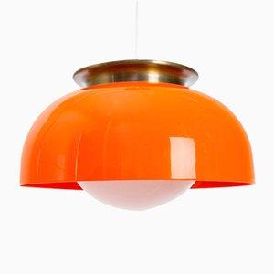 Lámpara colgante grande de Luigi Massoni para Guzzini, años 70