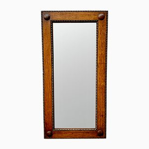 Kleiner rechteckiger Vintage Spiegel mit Holzrahmen
