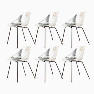 Aluminium Tulip Stühle von Pierre Guariche für Steiner, 1950er, 6er Set