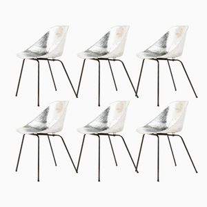 Aluminum Tulip Chairs by Pierre Guariche for Steiner, 1950s, Set of 6