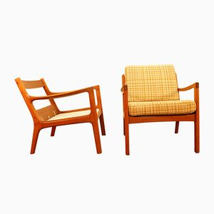 Easy Chairs by Ole Wanscher, 1950s, Set of 2