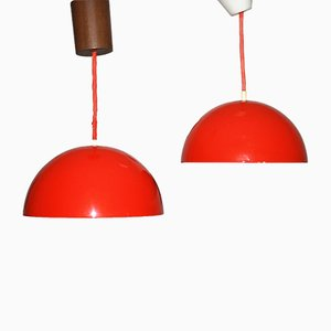 Suspensions Flower Pot par Verner Panton pour Louis Poulsen, 1978, Set de 2