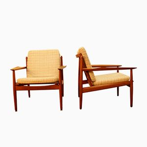 Teak Easy Chairs by Ole Wanscher for Cado, 1950s, Set of 2