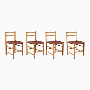 Vintage Dutch Dining Chairs by Ate van Apeldoorn for Houtwerk Hattem, Set of 4