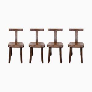 Teak Chairs by Olavi Hanninen for Mikko Nupponen, 1950s, Set of 4