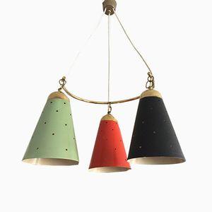 Lámpara colgante Mid-Century, años 50