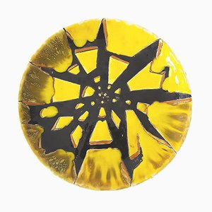 Mid-Century French Ceramic Decorative Plate, 1950s