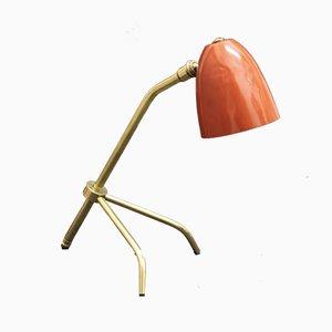 Lampada da tavolo o da parete regolabile in ottone, Francia, anni '50