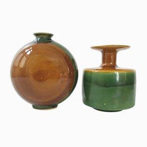 Keramikvasen von Eduardo Vega, 1970er, 2er Set