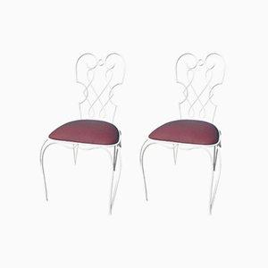 Französische Stühle von René Prou, 1930er, 2er Set