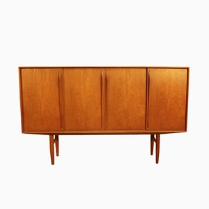 Teak Highboard by Axel Christensen for Omann Jun, 1950s