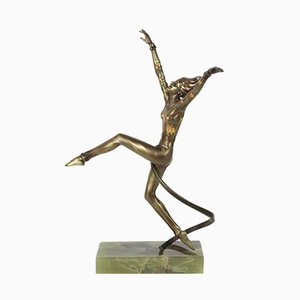 Art Deco Bronze Figure by Josef Lorenzl, 1930s