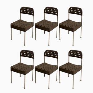 Vintage Box Stühle von Enzo Mari für Castelli, 6er Set