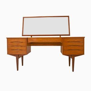Dänischer Frisiertisch oder niedriger Schreibtisch aus Teak, 1960er
