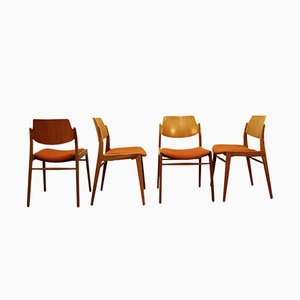 Chaise en Teck par Hartmut Lohmeyer pour Wilkhahn, 1950s