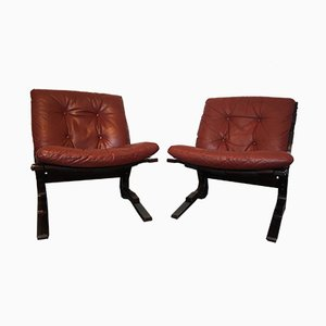Norweigan Pirate Chairs by Elsa & Nordahl Solheim for Rykken, 1970, Set of 2