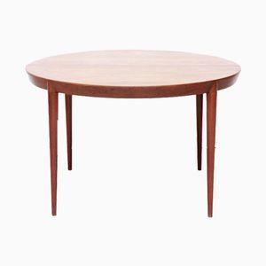 Table de Salle à Manger Ronde Extensible en Teck par Severin Hansen pour Haslev Mobelfabrik, 1960s