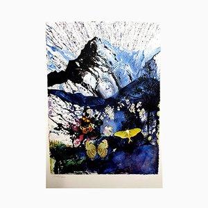 Litografía Alpes de Salvador Dali, 1969