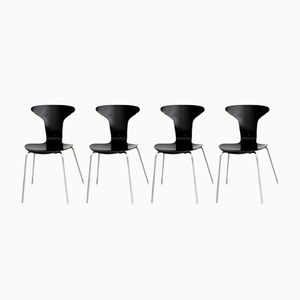 Chaises Mosquito par Arne Jacobsen pour Fritz Hansen, 1963, Set de 4